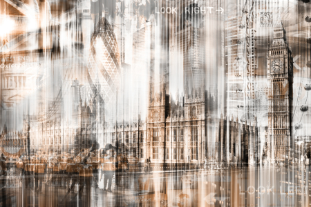 Picture no: 10377061 London Skyline Abstrakt Created by: Galerie-Fotoeffekt