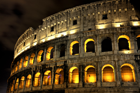 Picture no: 10396263 Illuminated Coliseum at night, Rome Created by: Circumnavigation