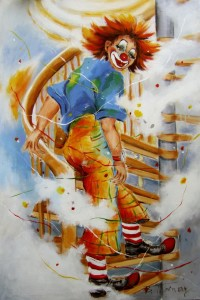 Picture no: 10428181 Clown auf Treppe Created by: Barbara  Tolnay