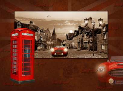 Picture no: 10430129 Collage british red mit englischer Telefonzelle Created by: Mausopardia