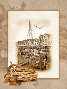 Picture no: 10437665 Hafen Husum Collage im Nostalgie Style Created by: Mausopardia