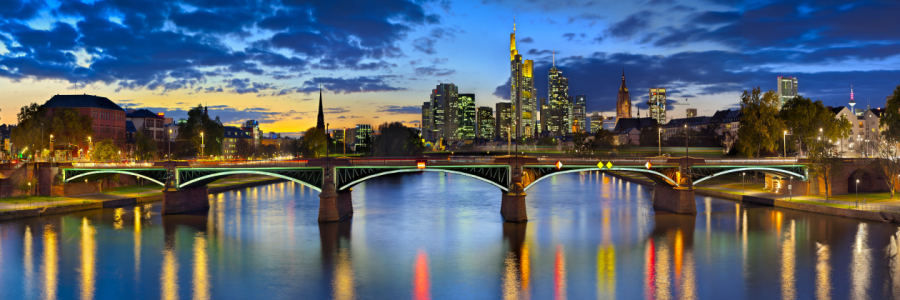 Picture no: 10454696 Sunset Skyline Frankfurt/Main Created by: FineArtImages