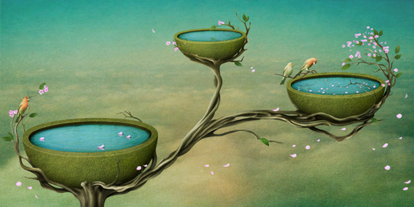 Picture no: 10466710 Three bowls of water on the tree Created by: Ann-Mei