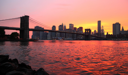 Picture no: 10486614 Rotes Abendlicht und Brooklyn Bridge Created by: Buellom