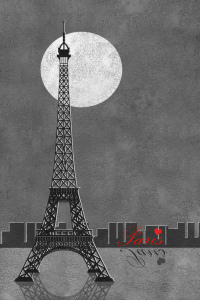 Picture no: 10487688 Paris Eiffelturm mit Schrift Colorkey Created by: Mausopardia