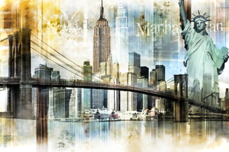Picture no: 10544985 New York Skyline Abstrakt Created by: Galerie-Fotoeffekt