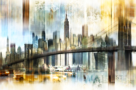 Picture no: 10552549 New York Skyline Abstrakt Fraktal Created by: Galerie-Fotoeffekt