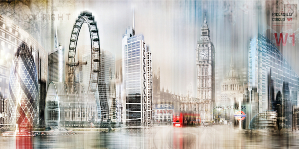 Picture no: 10563759 London Skyline Abstrakt Created by: Galerie-Fotoeffekt