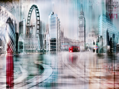 Picture no: 10577423 London Skyline Abstrakt Created by: Galerie-Fotoeffekt
