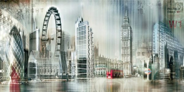 Picture no: 10577495 London Skyline Abstrakt Created by: Galerie-Fotoeffekt