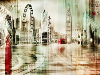 Picture no: 10577497 London Skyline Abstrakt Created by: Galerie-Fotoeffekt
