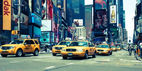 Picture no: 10580111 New York Yellow Cabs (blau) Created by: hannes cmarits