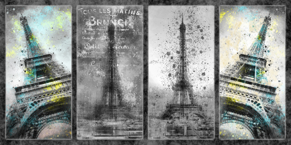 Picture no: 10583115 Digital-Art PARIS Eiffeltower Collage II Created by: Melanie Viola