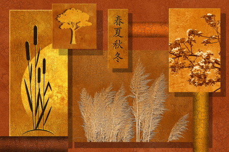 Picture no: 10631222 Natur Collage in orange Created by: Mausopardia