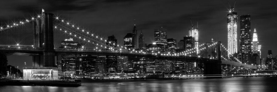 Picture no: 10643168 Night-Skylines NEW YORK CITY b&w Created by: Melanie Viola