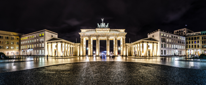 Picture no: 10671794 Brandenburger Tor Berlin Panorama bei Nacht Created by: Dimitrije Bilic