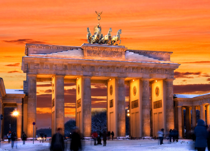 Picture no: 10675416 Berlin Brandenburger Tor Sonnenuntergang Created by: bildpics