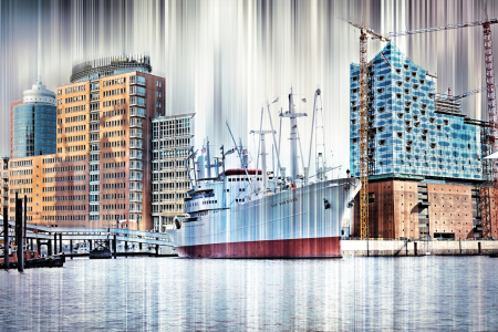 Picture no: 10703689 Hamburg Panorama Collage Created by: Galerie-Fotoeffekt