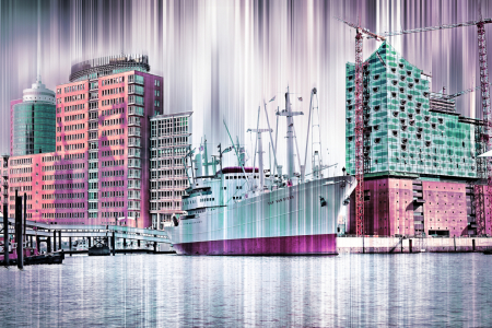 Picture no: 10710161 Hamburg Panorama Collage Created by: Galerie-Fotoeffekt