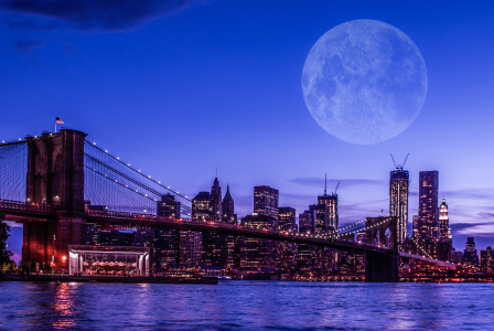 Picture no: 10716337 Vollmond über Manhattan II Created by: hannes cmarits