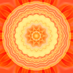 Picture no: 10718385 Mandala Sonne orange Created by: Christine Bässler