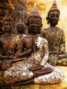 Picture no: 10774619 the 4 Buddhas Created by: Vereinigung-Emotional-Expressionisten