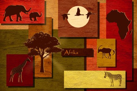 Picture no: 10782117 Mosaik Afrika Wildlife Created by: Mausopardia
