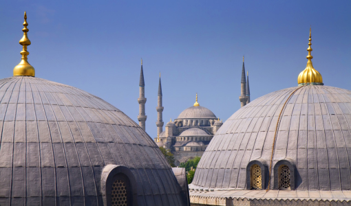 Picture no: 10784877 Blue mosque with Domes of the Hagia Sophia Created by: Circumnavigation