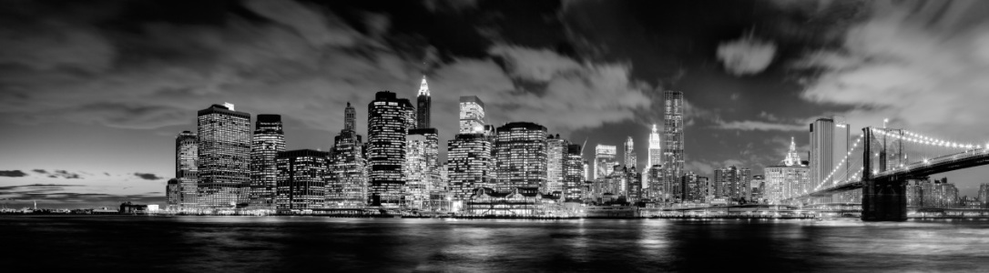Picture no: 10842753 Manhattan Skyline (Panorama) b/w Created by: BvuPhotography