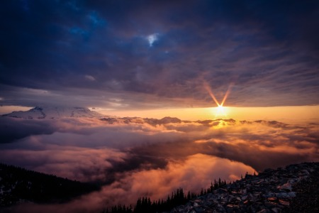 Picture no: 10929921 Mystic Mt Rainier  Created by: TomKli