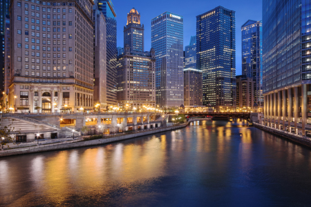 Picture no: 10955923 Chicago River - Night Lights Created by: ph4n7oM