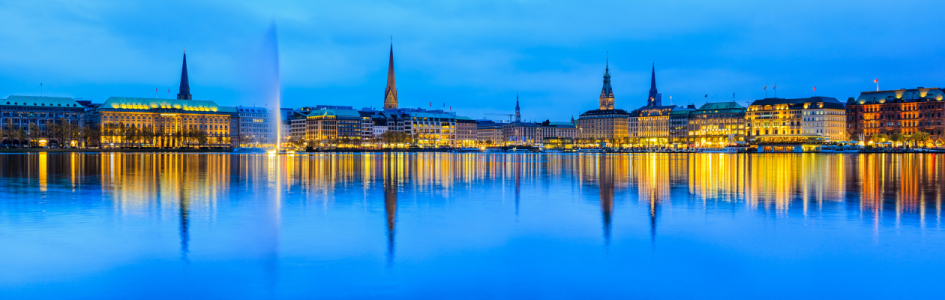 Picture no: 10964957 Hamburg Alster Panorama Created by: Mapics