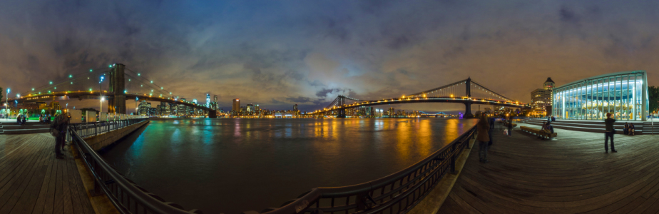 Picture no: 10966209 NY Broadway & Brooklyn Bridge Panorama Created by: tiuto