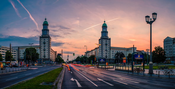 Picture no: 10974248 Berlin Frankfurter Tor Panorama Sunset Created by: Jean Claude Castor