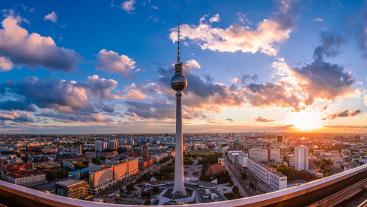 Picture no: 10976356 Berlin Panorama bei Sonnenuntergang Created by: Jean Claude Castor