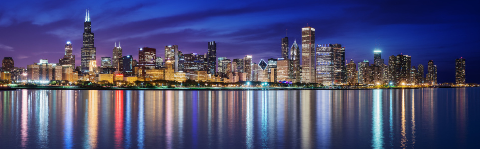 Picture no: 11029777 Chicago Night Skyline Created by: ph4n7oM