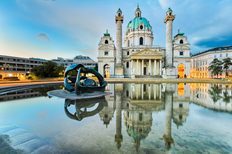 Picture no: 11064663 Karlskirche in Wien bei Sonnenaufgang Created by: Mapics