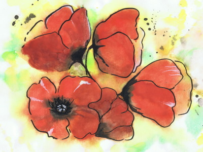 Picture no: 11094147 Mohn Aquarell Created by: LiDija
