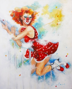 Picture no: 11113251 PinUp Clown Sally Created by: Barbara  Tolnay