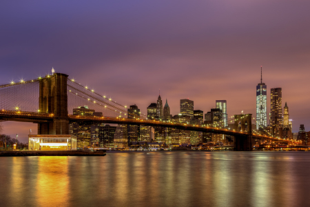 Picture no: 11122338 Brooklyn Bridge at Night Created by: TomKli