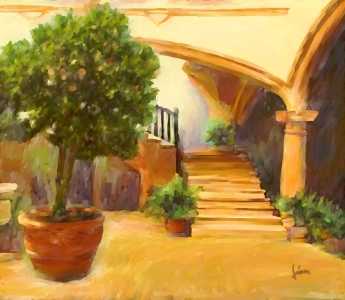 Picture no: 11198694 Patio mit orangenbaum Created by: fiam-art