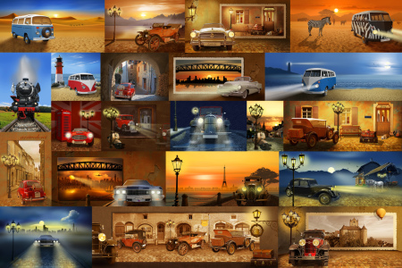 Picture no: 11296366 Oldtimer  Collage Created by: Mausopardia