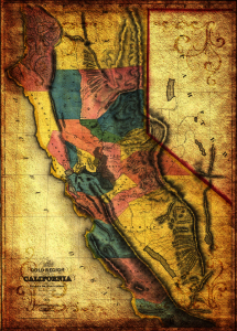 Picture no: 11341452 California 1851 antike Landkarte Created by: artefacti