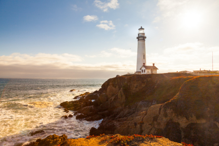 Picture no: 11347918 Pigeon Point Lighthouse bei Sonnenuntergang Created by: janschuler