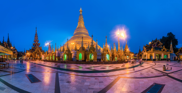 Picture no: 11360916 Burma - Shwedagon Pagode in Yangon zur blauen Stunde Created by: Jean Claude Castor