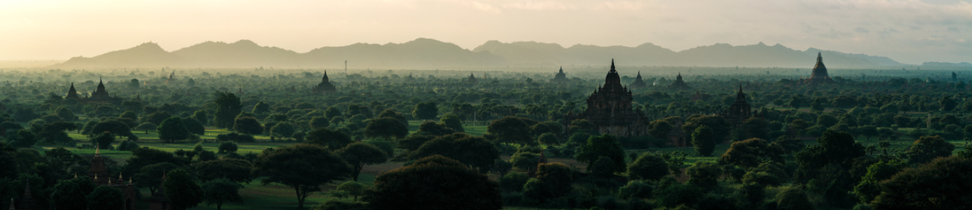 Picture no: 11361766 Burma - Bagan am Morgen Panorama  Created by: Jean Claude Castor