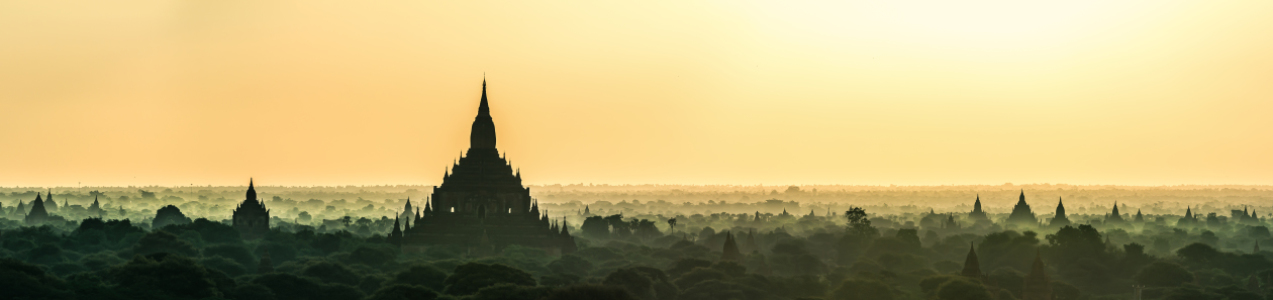 Picture no: 11370237 Burma - Bagan am Morgen Panorama  Created by: Jean Claude Castor