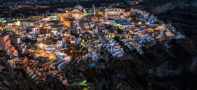 Picture no: 11373777 Santorini - Fira am Abend Panorama Created by: Jean Claude Castor