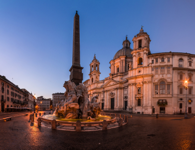 Picture no: 11390943 Rom - Piazza Navona am Morgen Panorama Created by: Jean Claude Castor