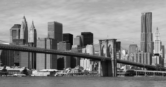 Picture no: 11405202 New York Skyline hinter der Brooklyn Bridge Created by: Buellom